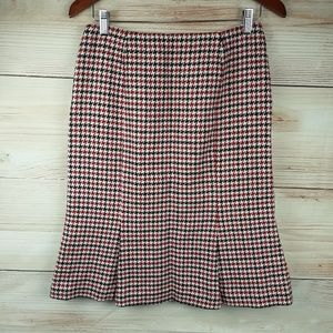 Talbots Multicolor Wool houndstooth Skirt Size 6